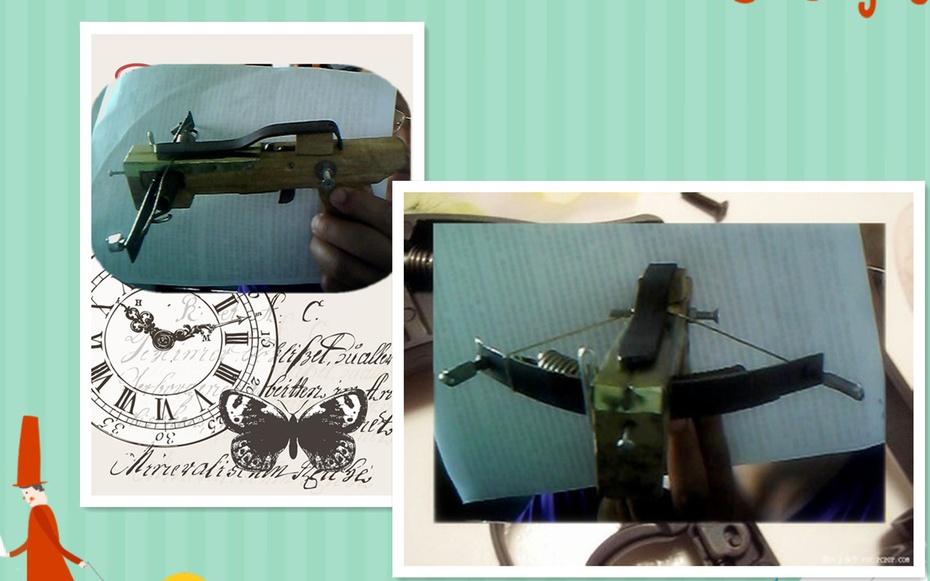 因为我是用圆珠笔笔芯的塑料管做箭,所以沟槽大小比照它来做,能放上箭