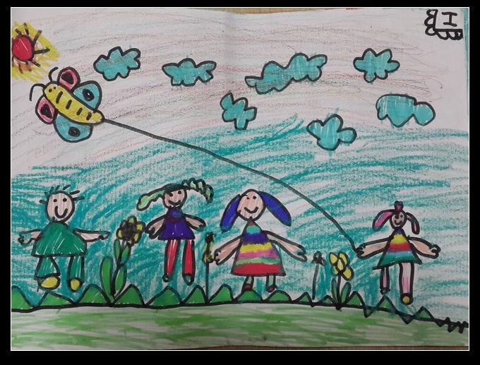 三只小熊简谱-幼儿园大班的美术作品
