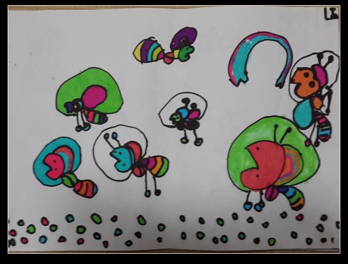 幼儿园大班的美术作品
