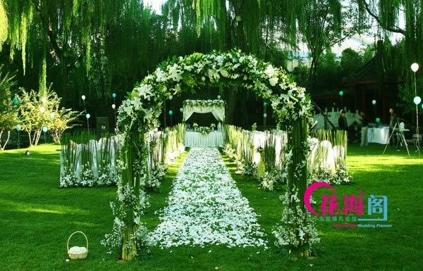 室外婚礼场景布置_花海阁分享:明媚阳光下的室外婚礼布置-花海阁婚礼策划-搜狐博客