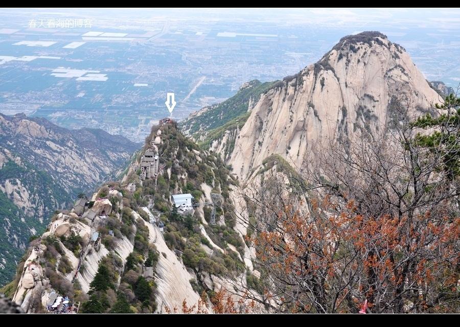 大美华山 回望北峰图片
