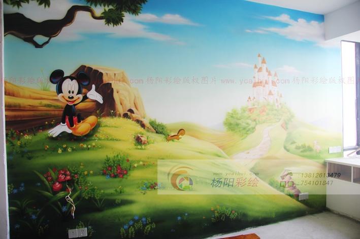 儿童房手绘墙-营造梦幻王国