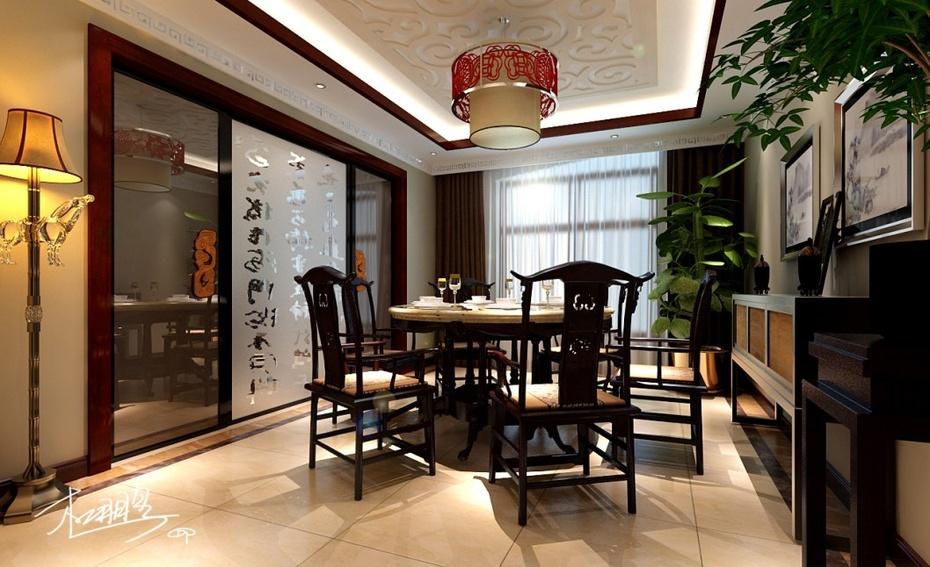 实创装饰--悦泽苑160平米新中式内蕴的装修设计