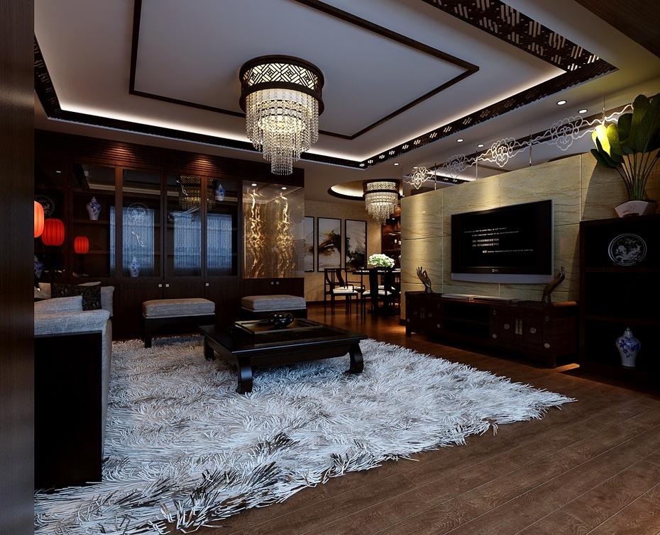 新中式客厅传统与现代的完美融合