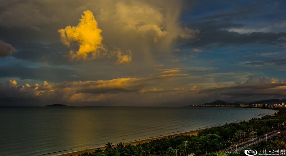 彩虹打渔_八月 我们去天涯海角看彩云-乌龙一品香-搜狐博客