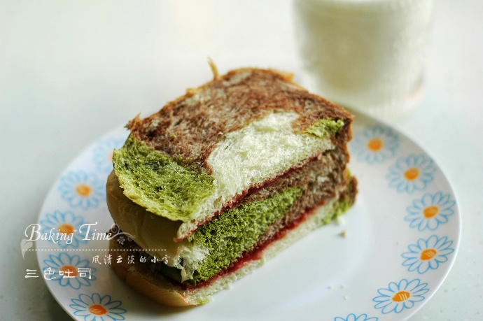 夏日里的一抹清新:三彩吐司 - 慢美食博客 - 慢美食博客 美食厨房