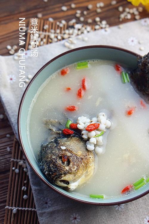 薏米鲫鱼汤。。。鲜美祛湿健脾的靓汤 - 慢美食博客 - 慢美食博客 美食厨房
