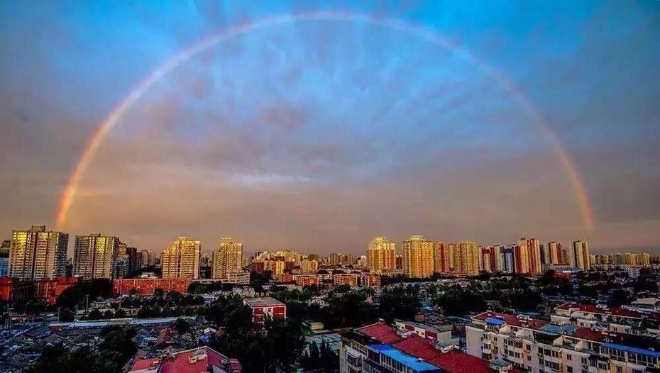 北京美到极致的彩虹与晚霞 - 余昌国 - 我的博客