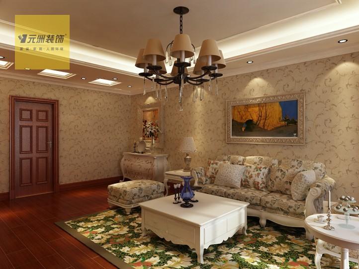 卧室:白色的顶角线和花色壁纸搭配让卧室更显温馨.   客厅:花高清图片