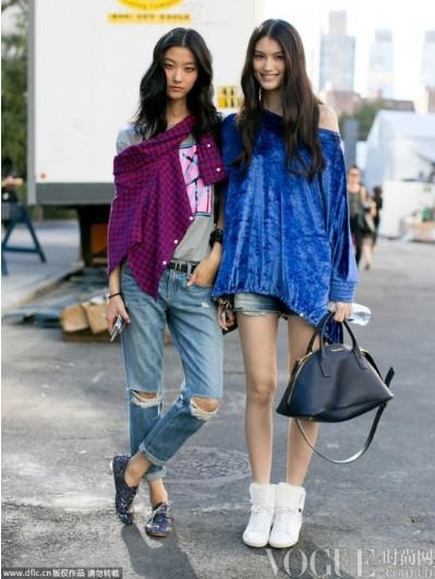 明星VS超模时装周街拍特辑 - VOGUE时尚网 - VOGUE时尚网