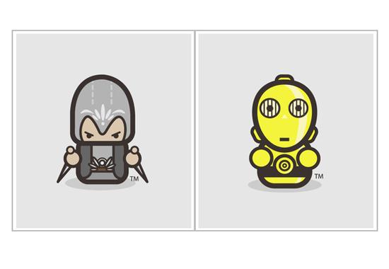 kirpluk:极简主义风格创意动漫角色设计