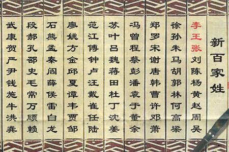 中国姓氏最新排名