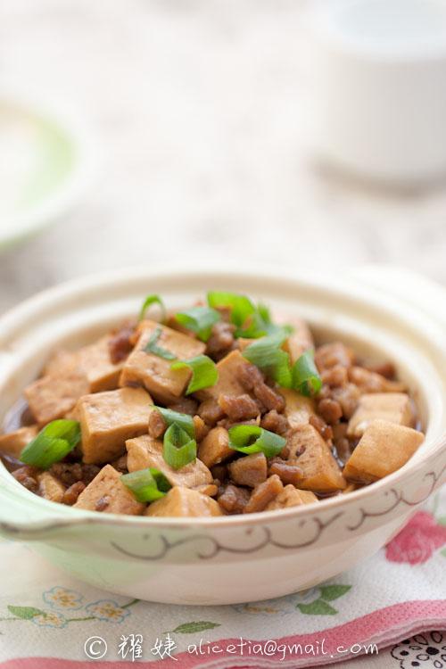 用不完的豆腐如何保存----肉末烧豆腐 - 耀婕 - 耀婕食生活