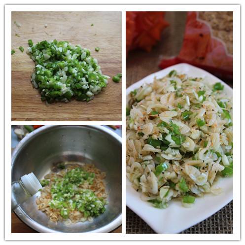 [3分钟快手菜]快速制作营养美味的下饭菜——杭椒大蒜拌虾皮 - 慢生活美食客 - 慢生活美食客