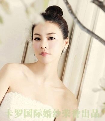 枣阳婚纱五一定制婚纱照新娘妆发型