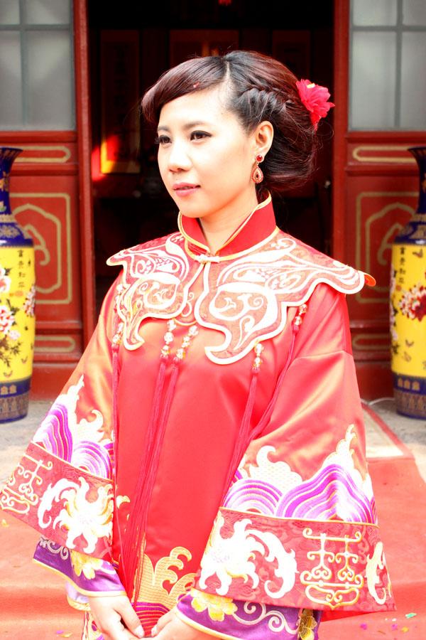 桂公府中式婚礼跟妆 秀和服造型