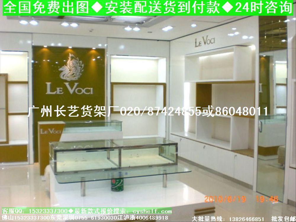 广州长艺鞋店货架展柜厂鞋店设计鞋店橱窗效果图