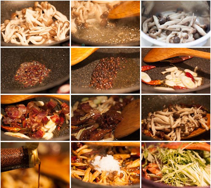 我爱下饭菜----干锅腊肉蟹味菇 - 耀婕 - 耀婕食生活