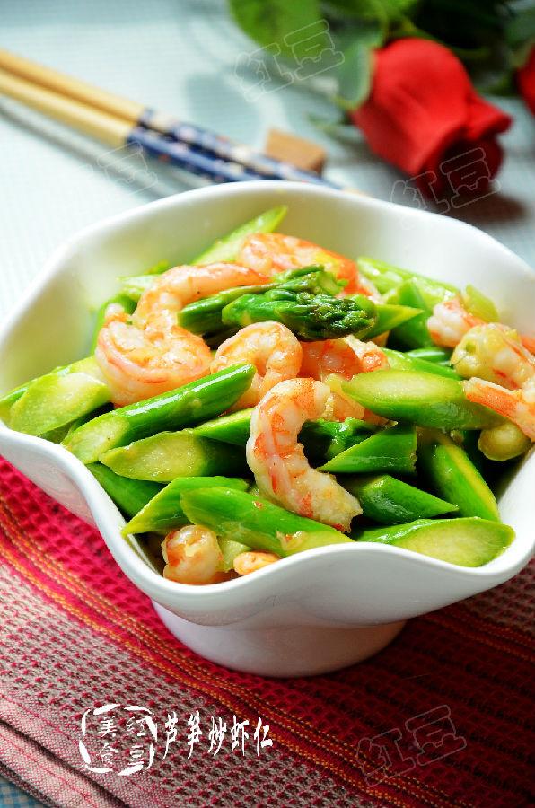 【三分钟快手菜】清淡爽口排毒菜--芦笋炒虾仁 - 慢生活美食客 - 慢生活美食客