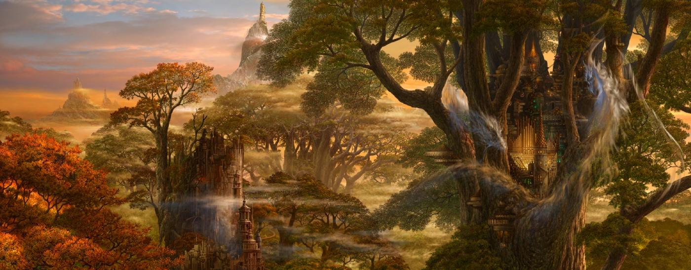 唯美手绘古风风景