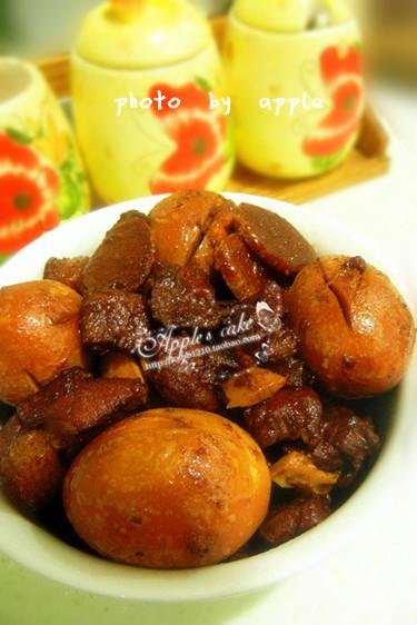 经典肉菜——红烧肉炖鸡蛋 - 慢美食 - 慢   美   食