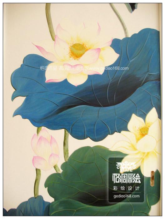 荷塘(紫薇田园都市)——西安手绘墙