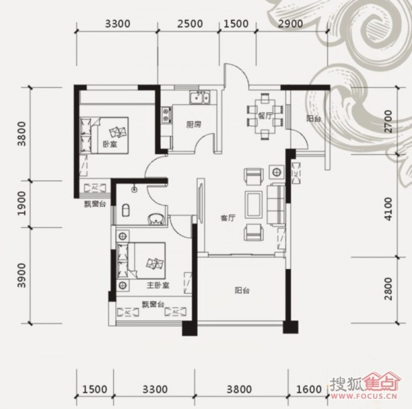 一,山语城86平米装修设计图