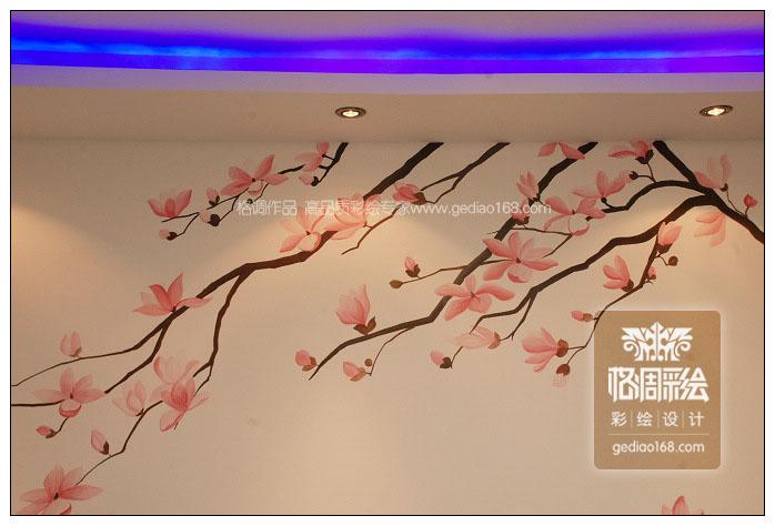 玉蘭(楓林意樹)——西安手繪墻