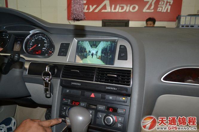 石家庄奥迪a6l原车屏升级 导航地图 倒车影像