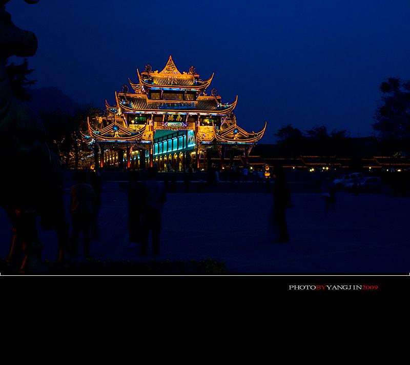 都江堰南桥夜色美 - H哥 - H哥的博客