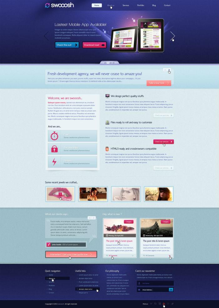 电子商务行业网站设计页面案例