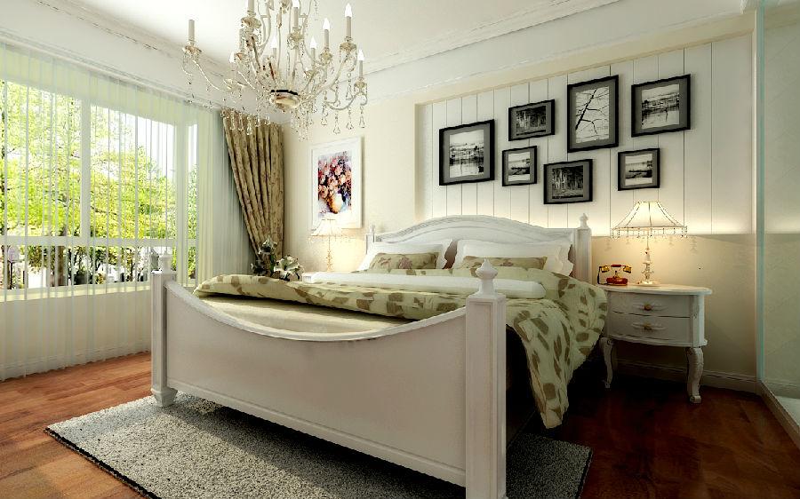 欧美风的客厅,一般门窗会采用圆弧形,选用带花纹的石膏线勾边;厅口处