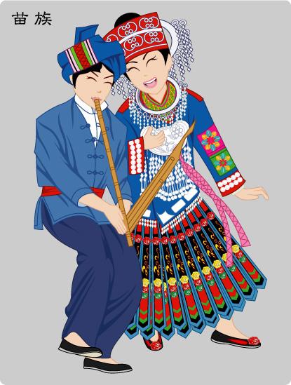 流光溢彩的56个民族画