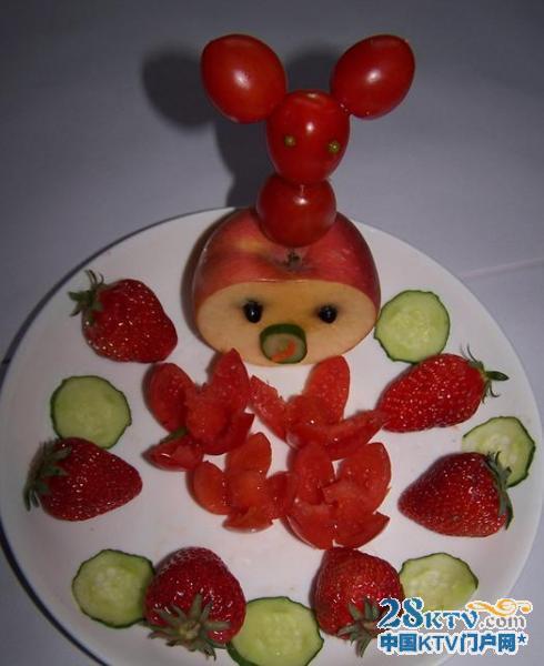 制作简单的水果拼盘图片