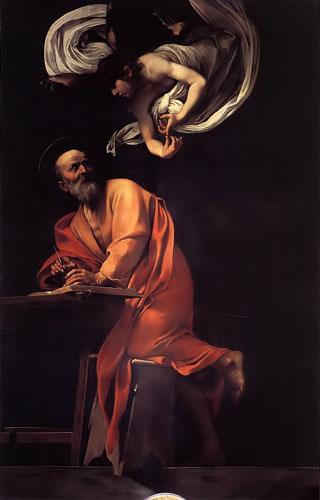 这幅画被拒收,卡拉瓦乔不得不重画一幅《圣马太的灵感》.