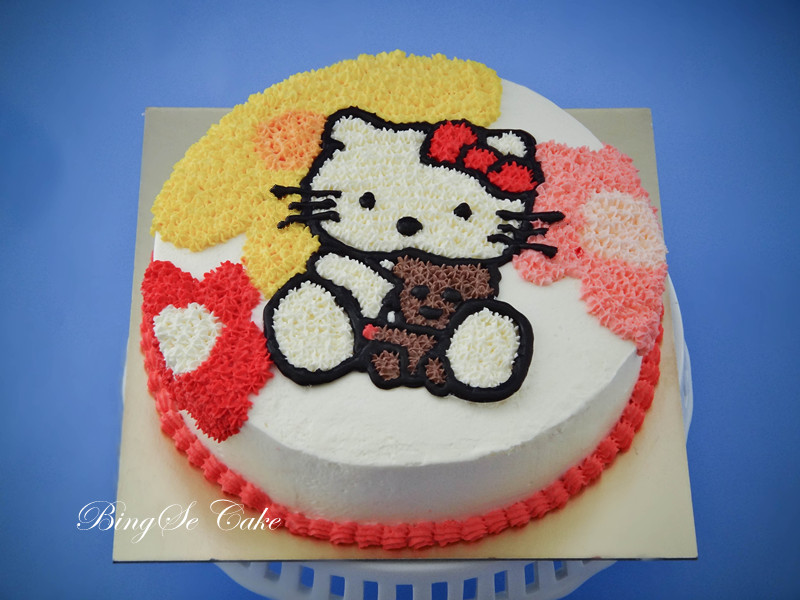 kitty的卡通奶油蛋糕吧