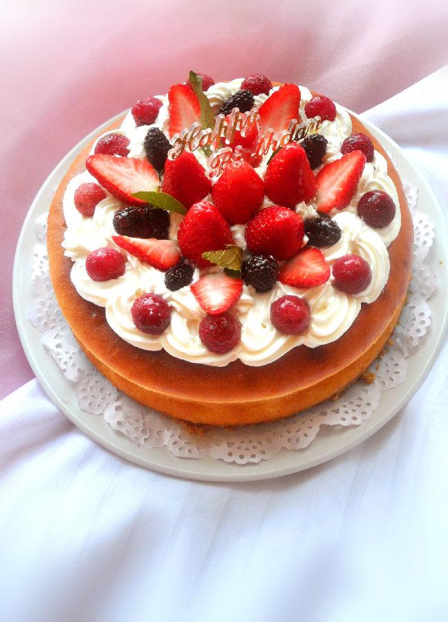 妈妈生日蛋糕_妈妈的生日---柠香纽约芝士蛋糕-傻妞爱厨房-搜狐博客