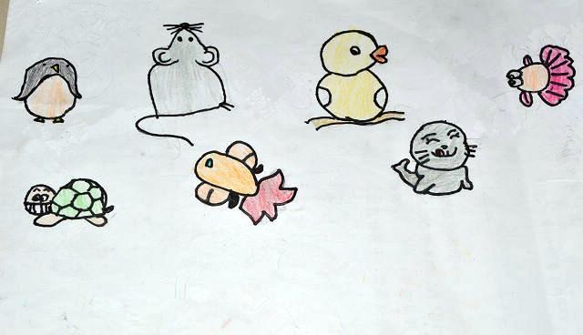 幼儿园小猫彩色简笔画图片