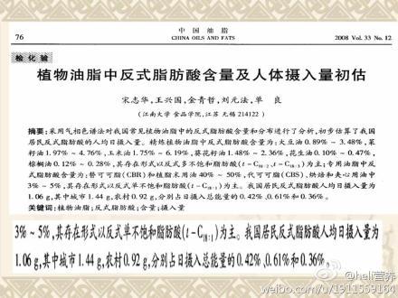 关于反式脂肪酸的权威观点 - 王兴国 - 营养师王兴国的博客