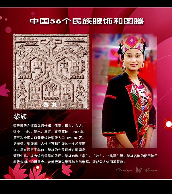 华夏56个民族民风民俗及民族服饰-黎族