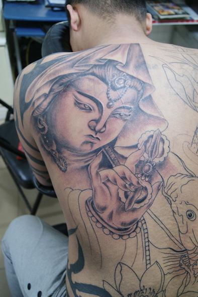 大臂麒麟纹身大力水手纹身图案大日如来纹身大树纹身大象文身大象纹身
