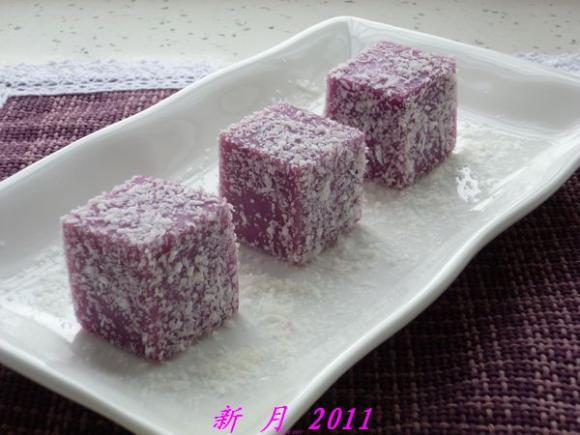 凉糕第二季---粘米粉版紫薯凉糕 - 新月 - 新月美食的博客