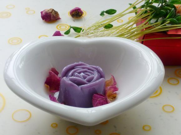绽放在心中的花蕊---琼脂版紫薯凉糕 - 新月 - 新月美食的博客