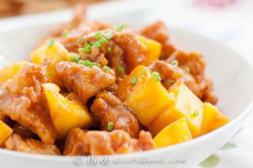 油炸是厨房的奢侈行为--糖醋菠萝鸡块 - 耀婕 - 耀婕食生活