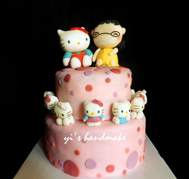 hello kitty&小公主 翻糖蛋糕