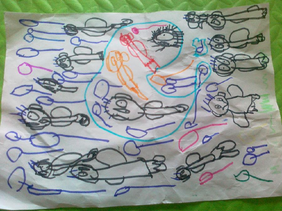 幼儿自画像 我长大了