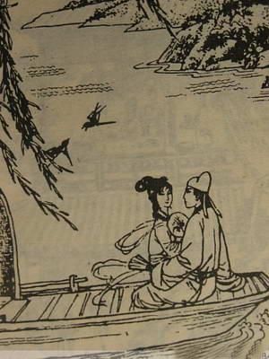唐朝琵琶简笔画
