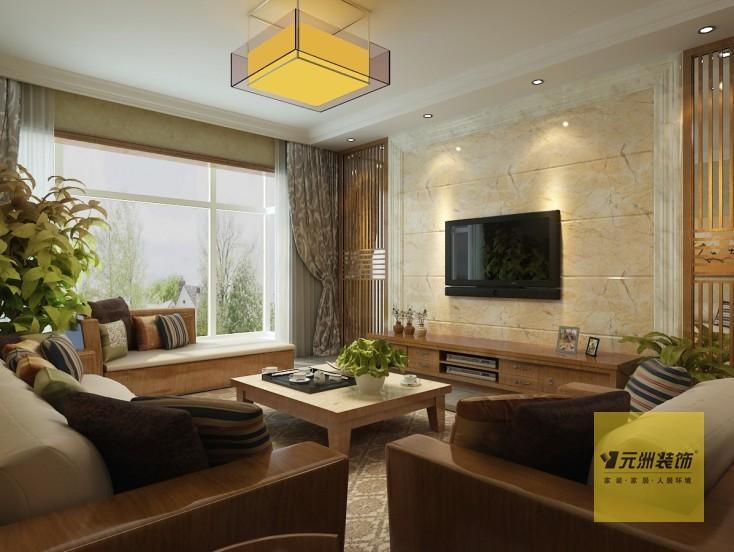 玄关花格与电视背景墙花格相呼应,镂空的造型与客厅遥相呼应,鱼缸的