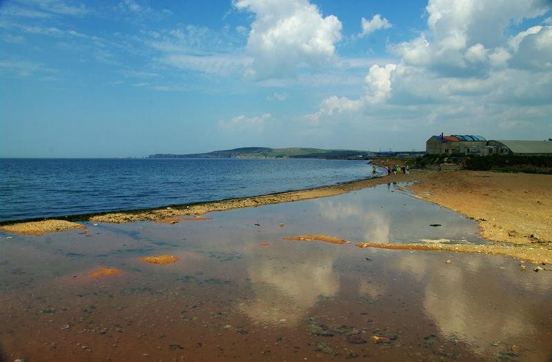 龙凤滩5公里的中间段海滨浴场呈月牙状座南朝北,更是洁净无染,潮起