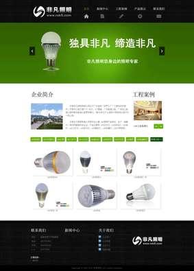 LED照明行业营销型网站模板